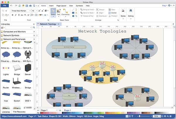 Diagrama de red alternativa de Visio