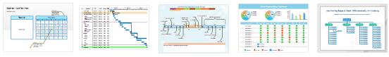 ejemplos de gráficos de proyectos