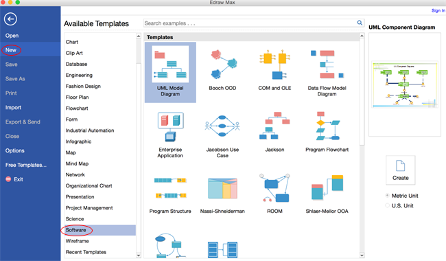 Diagrama UML Software for Mac