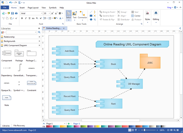 Diagrama UML Desktop Program
