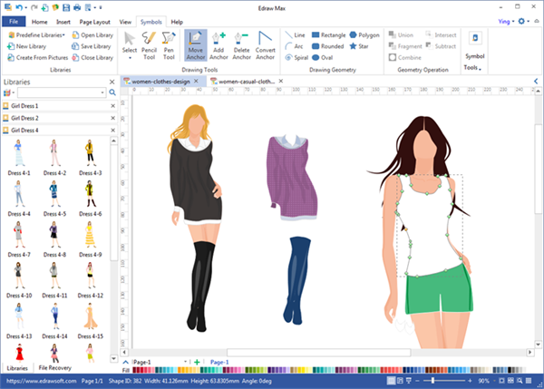 fashion sketcher interface