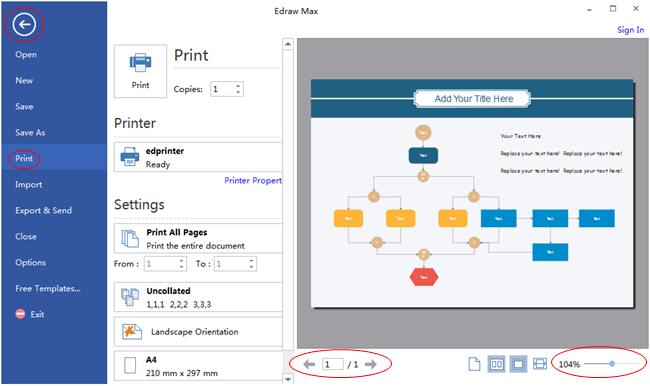 Preview and Print Fault Tree Diagram