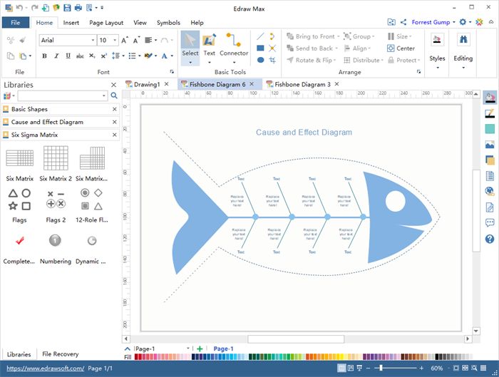 Free fishbone diagram templates for word powerpoint pdf fishbone diagram maker ccuart Gallery