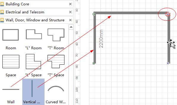 Hinzufügen Räume Shapes