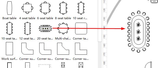 Drag Drop Büroplanung Symbols