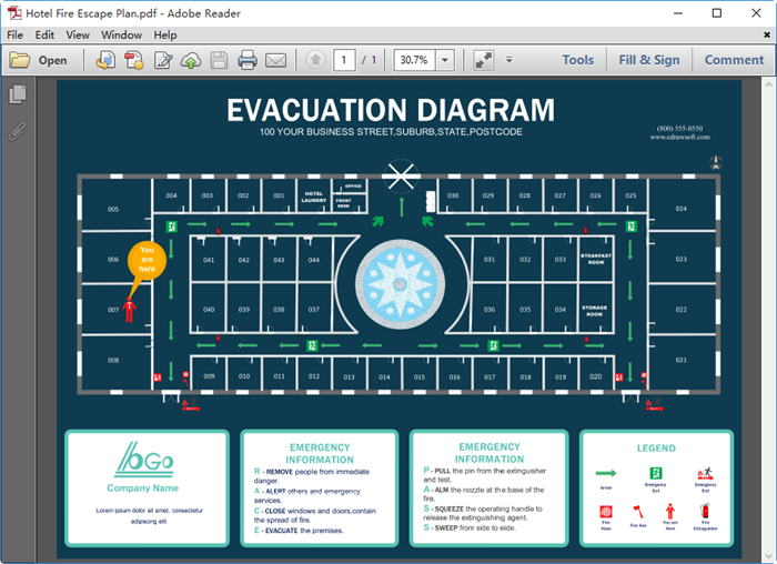 Evacuation Plan for PDF
