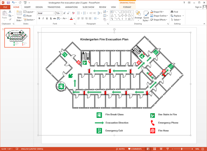 Create Evacuation Plan for PPT