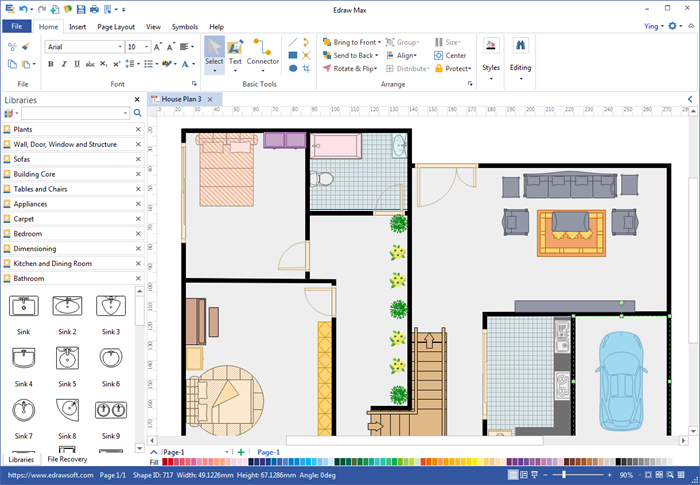 Create floor plan for pdf Floorplan software