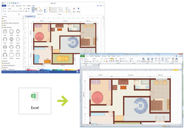 Floor plans excel 28 images how to create a for Free floor plan template excel