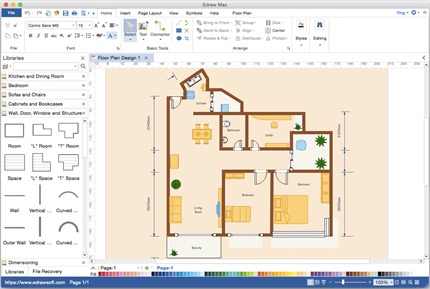 floor plan for mac - Visio Like Program For Mac