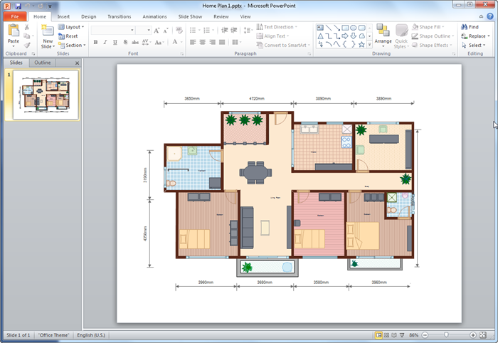 Create floor plan for ppt for Free floor plan template excel
