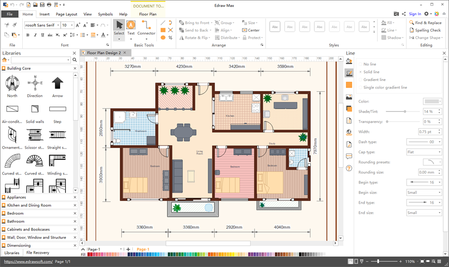 Floor plan maker make floor plans simply for Interactive office floor plan
