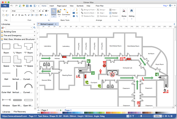 Top 5 floor plan software for mac visio like for Visio garden template
