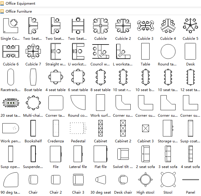 Delicieux Office Layout Symbols