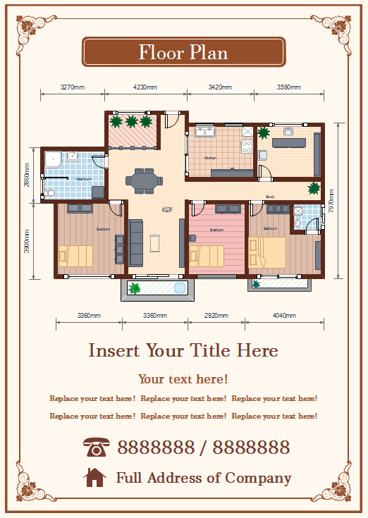 Floor plan tool for real estate ads for Floor plans real estate