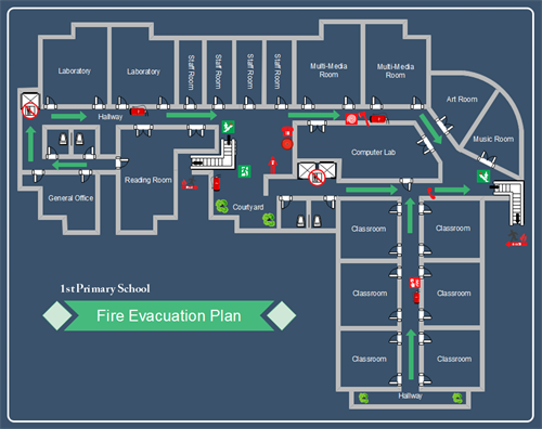 School Evacuation Plan