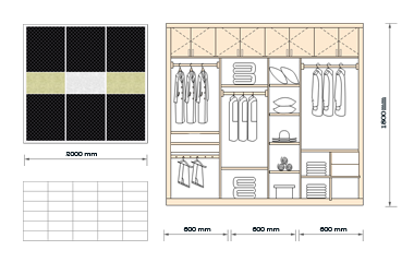 Wardrobe for Floor Plan