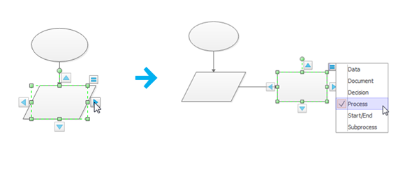 Add and Change Shapes in Flowcharts