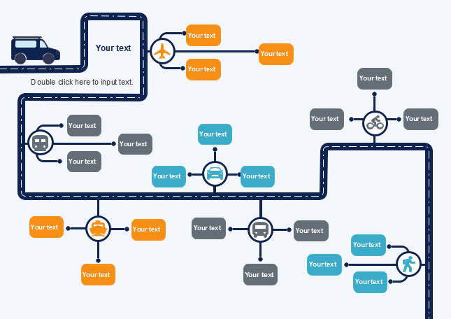 public transport sector creative flowchart template