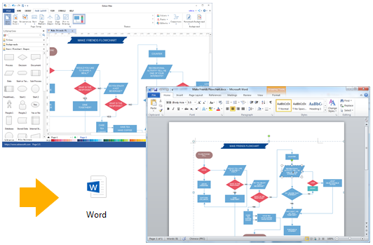 Export Flowchart to Word