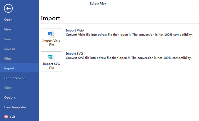 Flowchart Visio Alternative Import Files