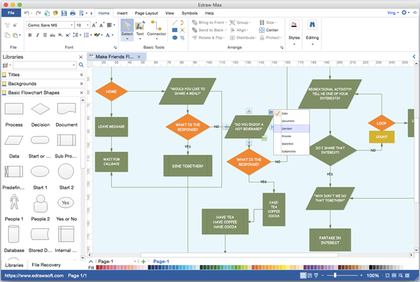 flowchart alternative to microsoft visio for mac