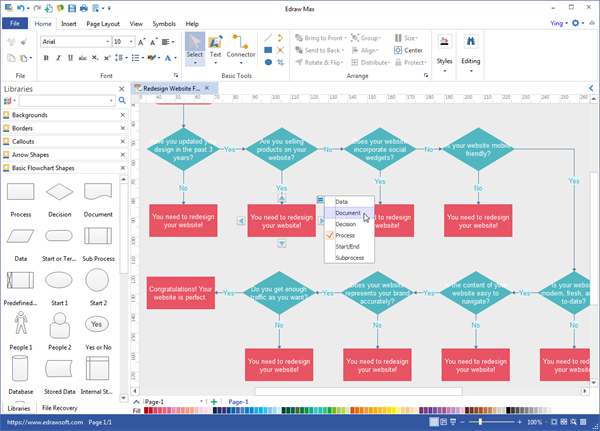 Free download flowchart maker flowchart maker windows interface ccuart Choice Image