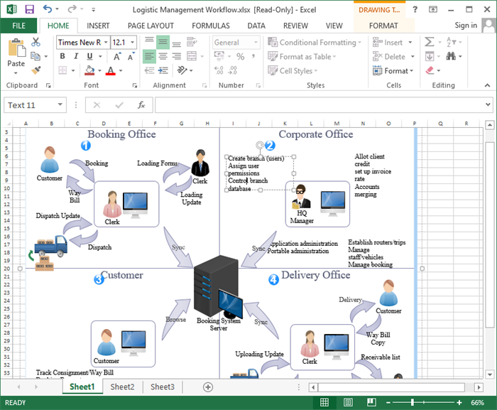 Workflow Diagram in Excel