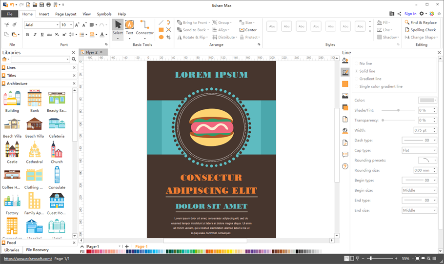 Best Program To Design Posters On Mac: Flyer Software for Windows Mac and Linuxrh:edrawsoft.com,Design