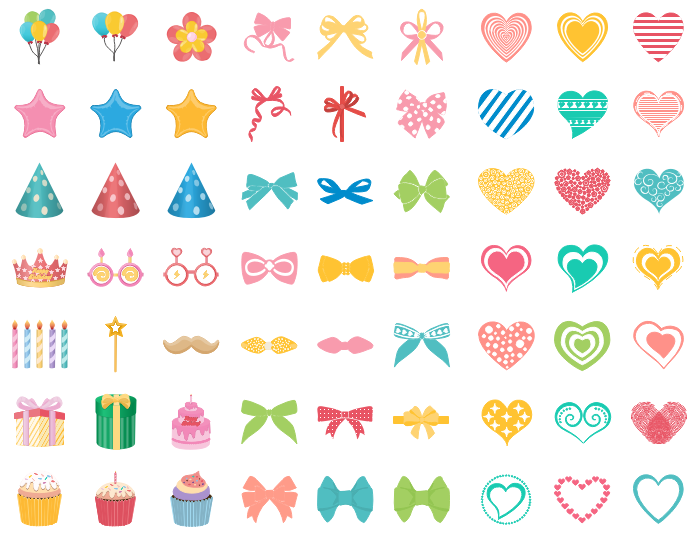 Formes vectorielles gratuites de carte d'invitation d'anniversaire