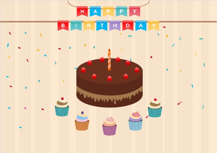 Modèle de carte d'invitation d'anniversaire à personnaliser