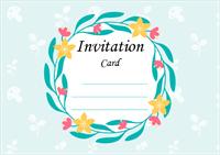 Modèle de carte d'invitation 3