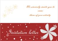 Modèle de carte d'invitation 2