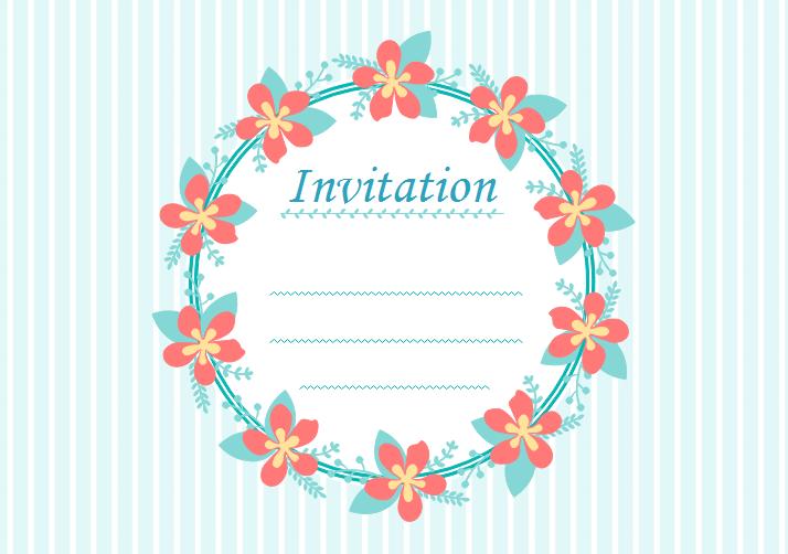 Fabuleux Modèles gratuits de carte d'invitation vierges pour les événements XZ42