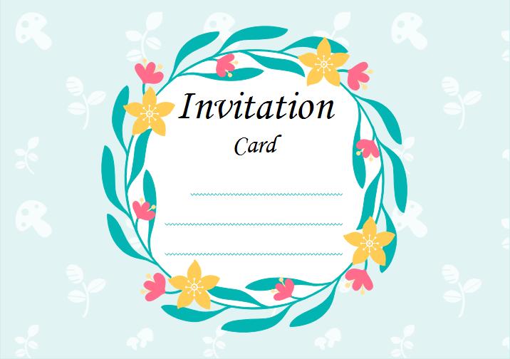Modeles Gratuits De Carte D Invitation Vierges Pour Les Evenements
