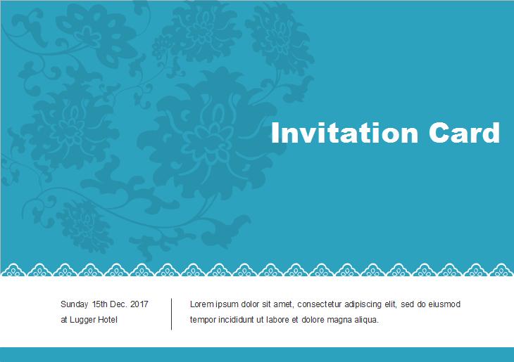 Modèle de carte d'invitation vierge