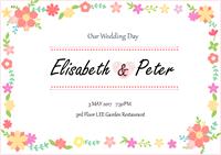 Modèle de carte d'invitation mariage personnalisable