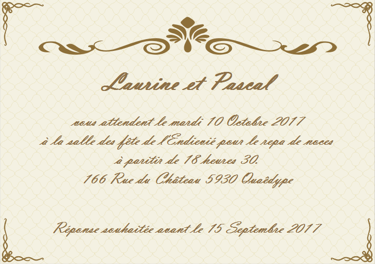 mod les de carte d invitation de mariage gratuits personnaliser edraw max logiciel de. Black Bedroom Furniture Sets. Home Design Ideas