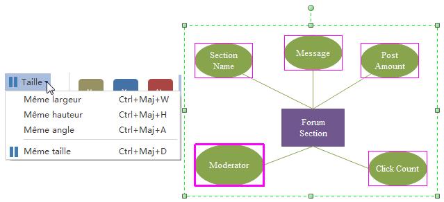 Ajouter des formes de modèle entité-association