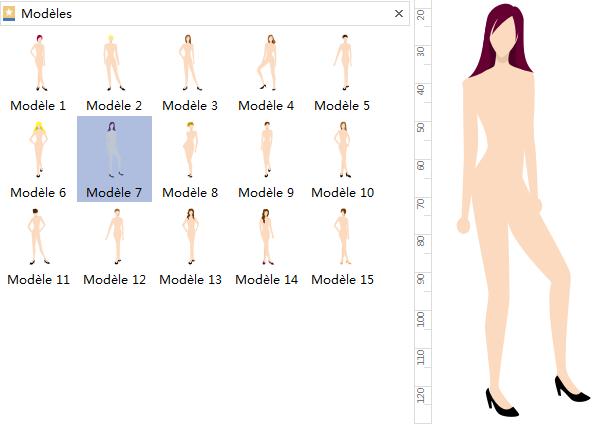 Ajouter des formes de design de mode