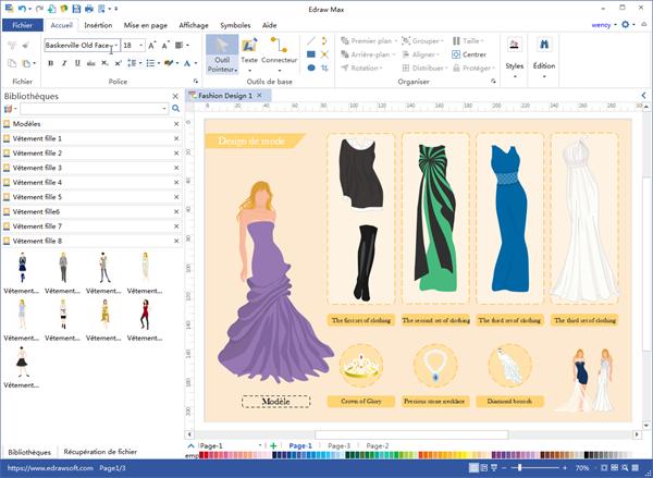 Programme de bureau de design de mode