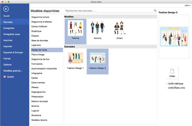 Logiciel de design de mode pour Mac