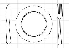 Couteau et fourchette