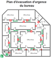 Modèles de plan d'évacuation pour le bureau
