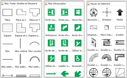 symboles de plan d'évacuation
