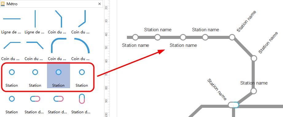comment ajouter des stations au plan de métro