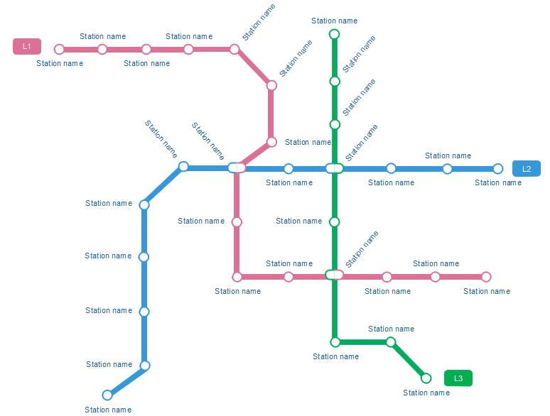modèle de plan de métro