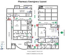 Modèles de plan d'évacuation incendie de la pharmacie