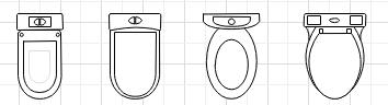 Symboles pour plan de construction cuisine et salle de bains for Plan de douche et toilette