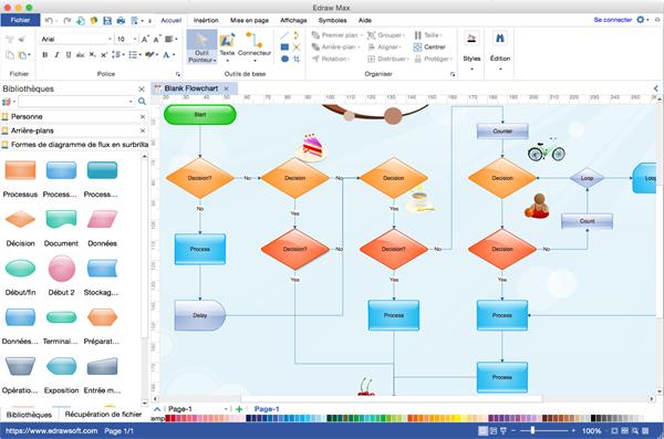 Programme de bureau de diagramme de flux